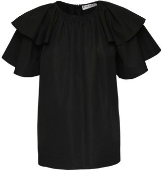 Givenchy Ruffled Cotton Poplin Top