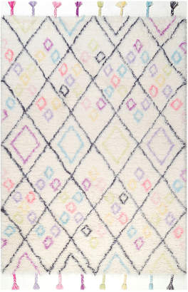 nuLoom Handmade Moroccan Diamonds Annice Rug Handmade Wool Rug