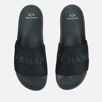 Armani Exchange Men's Mesh Slide Sandals - Dress Blue