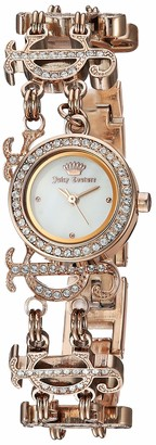 Juicy Couture Black Label Women's JC/1102RGCH Swarovski Crystal Accented Rose Gold-Tone Chain Bracelet Watch