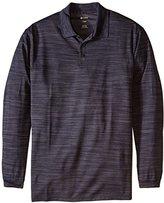 Haggar Men's Big-Tall Long Sleeve Polyester Knit Polo