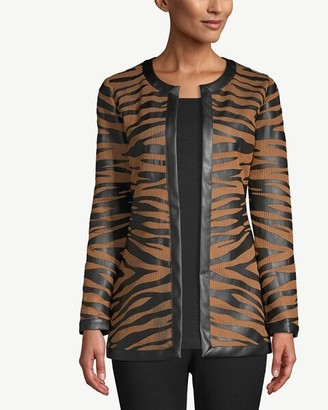 Travelers Collection Striped Mesh Jacket