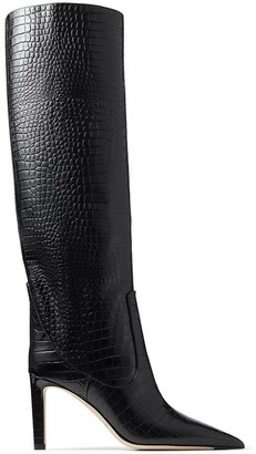 Jimmy Choo Textured Pointed-Toe Boots