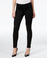 Thalia Sodi Black Wash Side-Zip Jeggings, Only at Macy's