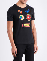 Fendi Patch appliqué cotton-jersey T-shirt