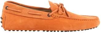 Tod's Orange Suede Flats