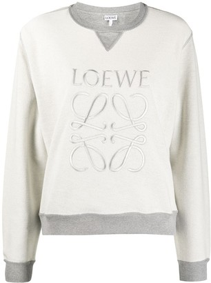 Loewe Logo-Embroidered Inside-Out Sweatshirt