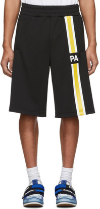 Palm Angels Black Monogram Track Shorts