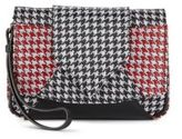 Dannijo Rocha Houndstooth Leather Clutch