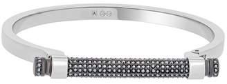 Swarovski Friend Stainless Steel Black Crystal Bar Bangle Bracelet