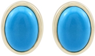 Generation Gems Turquoise Earrings, 14K Gold Plated