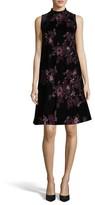 ECI Women's Embroidered Velvet Shift Dress