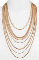 Nordstrom Women's Multistrand Snake Chain Necklace