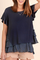 Umgee USA Ruffled Sleeve Top