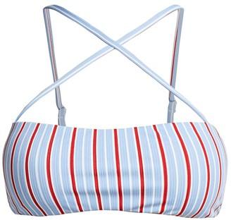 Onia Maja Striped Bikini Top