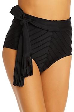 Shani Shemer Noir Stitched High-Waist Bikini Bottom