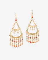White House Black Market Two Tier Beaded Chandelier Earrings