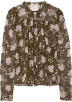 Ulla Johnson Petunia Floral-print Silk-crepon Blouse - Green