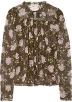 Ulla Johnson Petunia Floral-print Silk-crepon Blouse