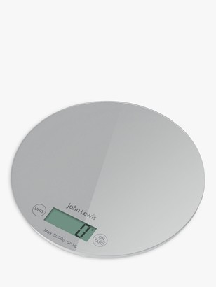 House by John Lewis Round Kitchen Scale, 5kg, Silver