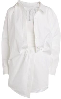 Alexander Wang Twist-Detail Asymmetric Shirt Dress