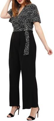 Studio 8 Luna Spot Jumpsuit, Black/White