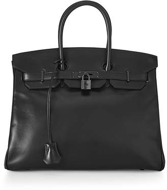 Hermes Birkin 35 Box Leather, Black