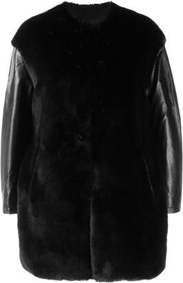 Pinko faux fur boxy jacket