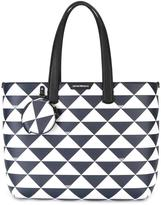 Emporio Armani triangles tote bag - women - Leather/Polyester - One Size