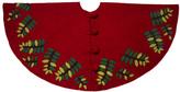 Red Leaves Christmas Tree Skirt