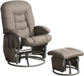 Asstd National Brand Neil Knight Faux-Leather Glider with Ottoman