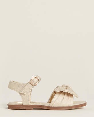 Nine West Infant/Toddler Girls) Gold Keirita Flat Sandals