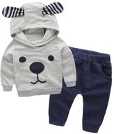 Canvos 2Pcs Baby Boys Long Sleeve T-shirt Pant Toddler Costume Dog Clothes Set Outfits