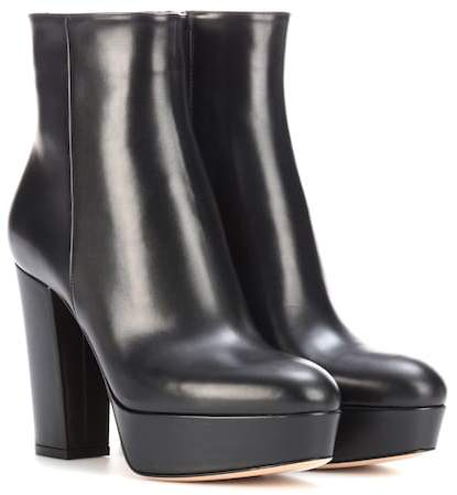 Gianvito Rossi Temple leather platform ankle boots