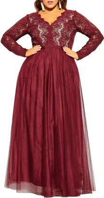 City Chic Rare Beauty Maxi Dress