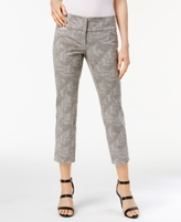 Alfani Petite Printed Straight-Leg Cropped Pants, Created for Macy's