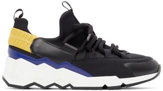 Pierre Hardy Black and Blue Trek Comet Low-Top Sneakers