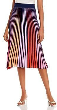 525 America Striped Pleated Skirt