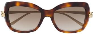 Cartier Panthere de square-frame sunglasses