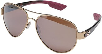 &'Costa Costa South Point (Shiny Brushed Gold/Rose Tortoise Temples Frame/Copper Silver) Fashion Sunglasses