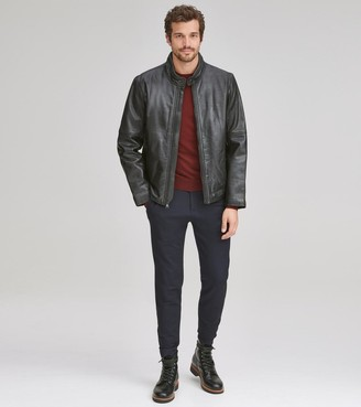 Andrew Marc Emerson Leather Moto Jacket