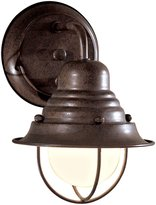 Minka Lavery The Great Outdoors GO 71166 Rustic / Country 1 Light Outdoor Wall Sconce from the Wyndmere Collection, Antique Bronze