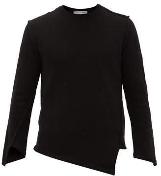Comme des Garcons Asymmetric Crew-neck Sweater - Mens - Black