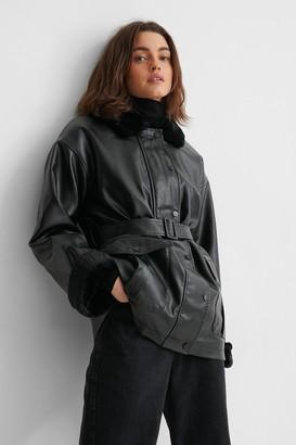 NA-KD Faux Fur Bonded PU Jacket