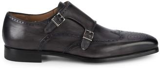 Magnanni Monk Strap Wingtip Dress Shoes