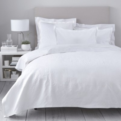 The White Company Vintage Etienne Bedspread, White, King