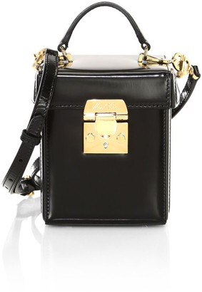 Mark Cross Grace Patent Leather Crossbody Cube Bag