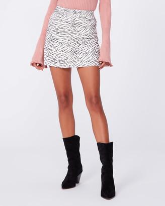 Paige Aideen Skirt-Gardenia/Rose Zebra