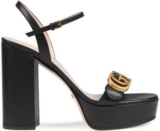 Gucci Platform sandal with DoubleG