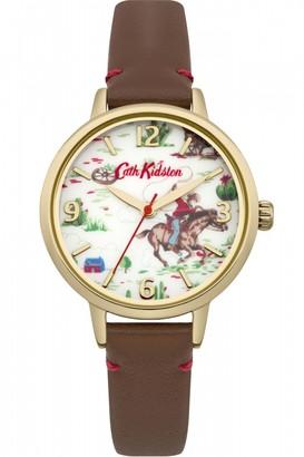 Cath Kidston Ladies Cowboy Brown Leather Strap Watch CKL006TG